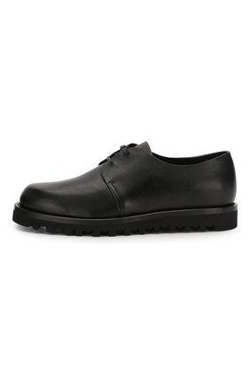 Мужские кожаные дерби GIORGIO ARMANI черного цвета, арт. X2C635/XF414 | Фото 3