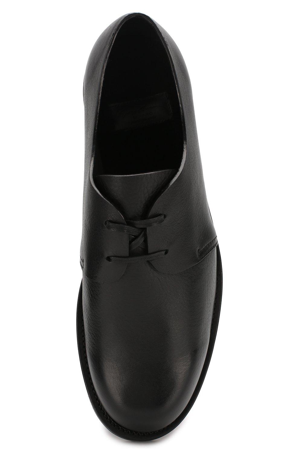 Мужские кожаные дерби GIORGIO ARMANI черного цвета, арт. X2C635/XF414 | Фото 5