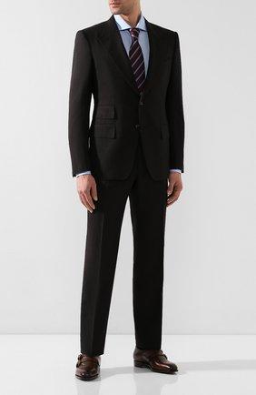Мужские кожаные монки RALPH LAUREN темно-коричневого цвета, арт. 815748433 | Фото 2