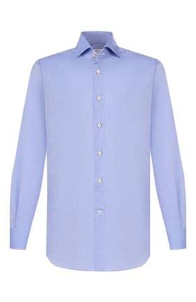 Мужская хлопковая сорочка KITON голубого цвета, арт. UCIH000310300M | Фото 1