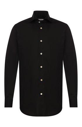 Мужская хлопковая сорочка KITON черного цвета, арт. UCCH0701307 | Фото 1