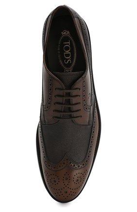 Мужские кожаные дерби TOD'S коричневого цвета, арт. XXM0XR00530MFD | Фото 5