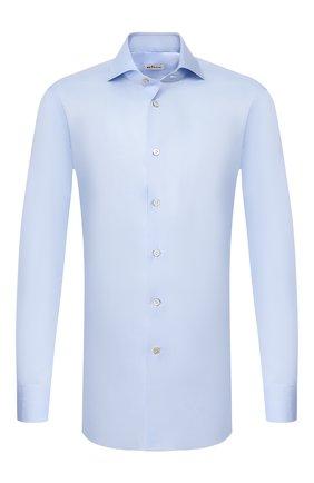Мужская хлопковая сорочка KITON светло-голубого цвета, арт. UCIH000340200J | Фото 1