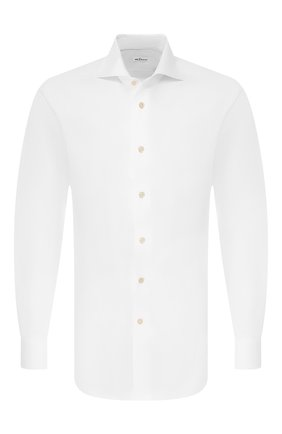 Мужская хлопковая сорочка KITON белого цвета, арт. UCIH000340100N | Фото 1