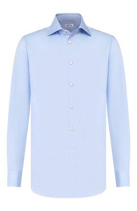 Мужская хлопковая сорочка KITON светло-голубого цвета, арт. UCIH000340200C | Фото 1
