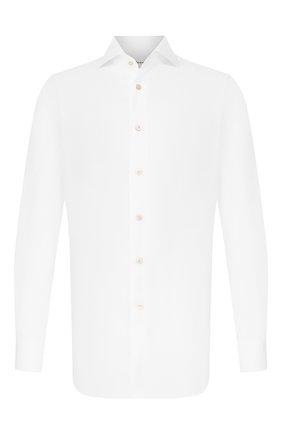 Мужская хлопковая сорочка KITON белого цвета, арт. UCIH000340100K | Фото 1