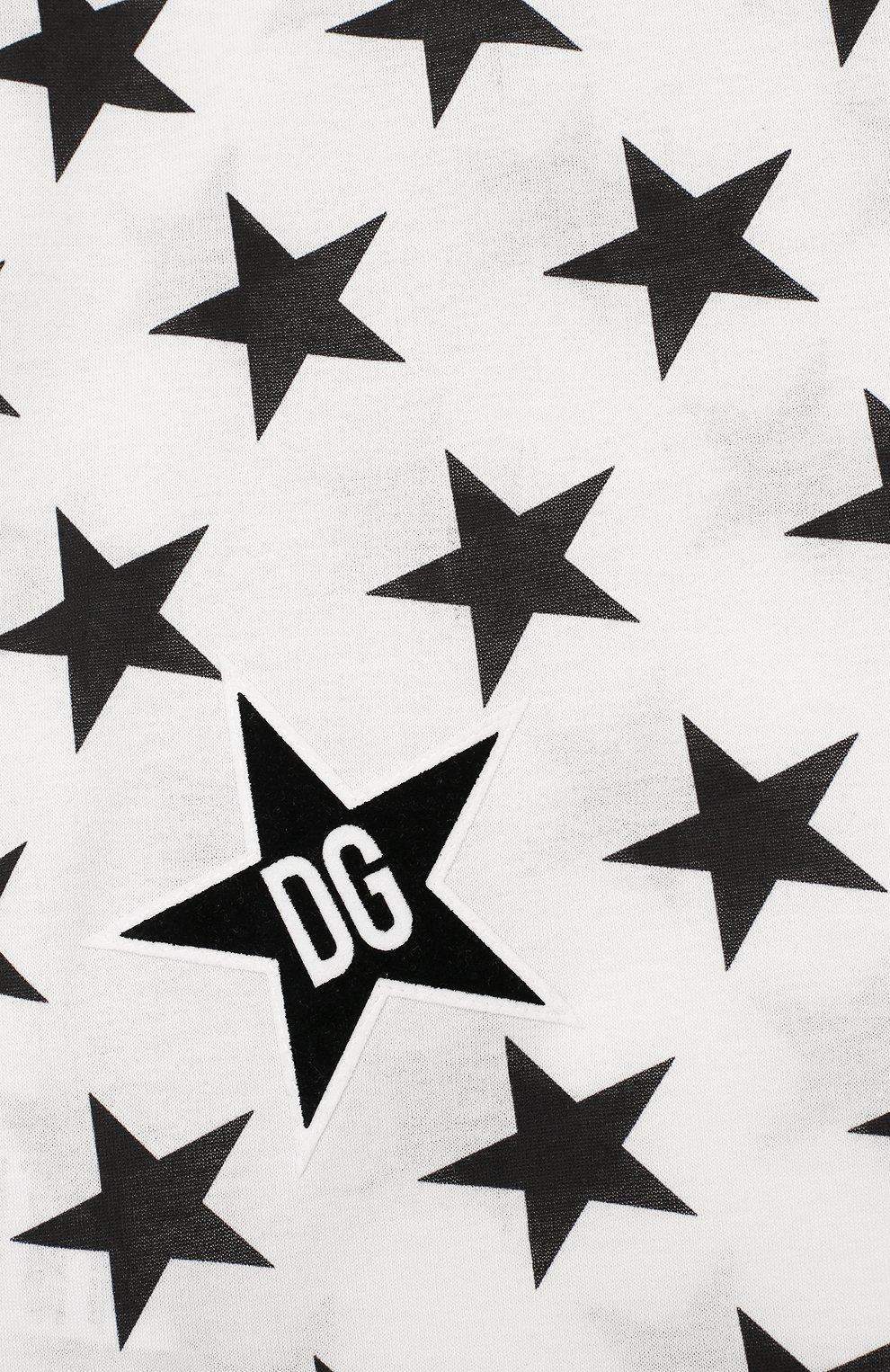 Детская хлопковая футболка DOLCE & GABBANA черно-белого цвета, арт. L4JT7L/G7VBM/2-6 | Фото 3
