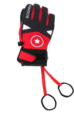 Детские перчатки BOGNER KIDS красного цвета, арт. 4997260 | Фото 1