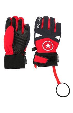 Детские перчатки BOGNER KIDS красного цвета, арт. 4997260 | Фото 2