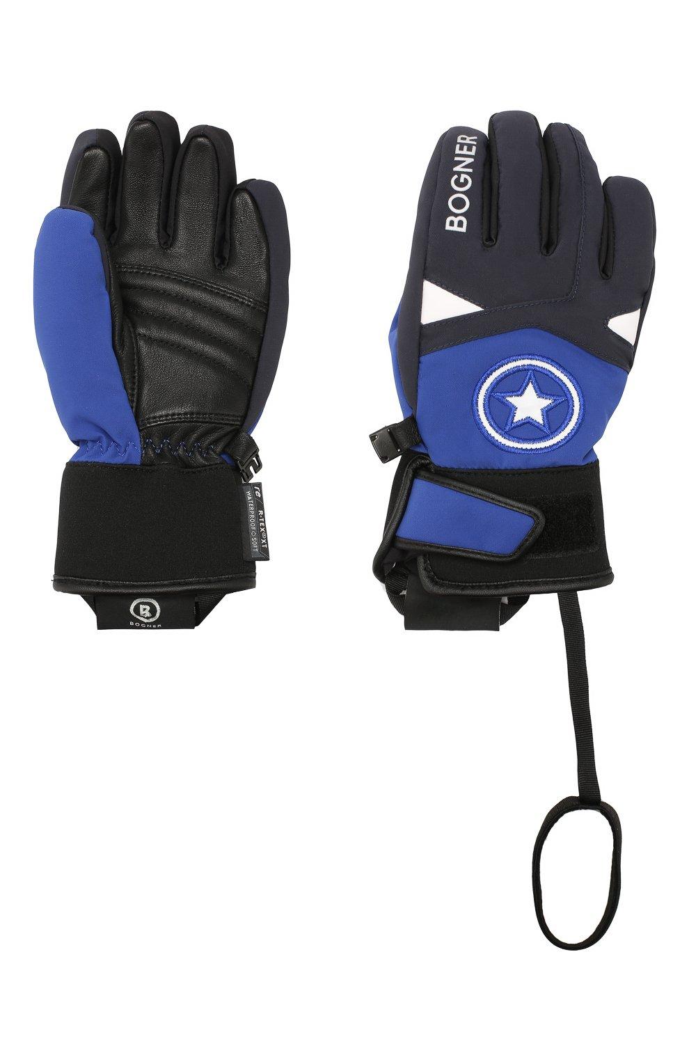 Детские перчатки BOGNER KIDS синего цвета, арт. 4997260   Фото 2