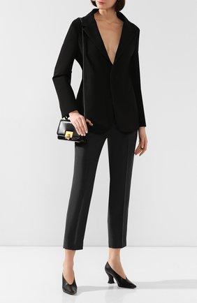 Женская кожаные туфли BOTTEGA VENETA черного цвета, арт. 608839/VBSD0 | Фото 2