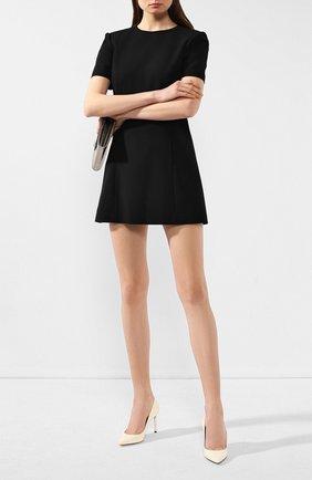 Женская кожаные туфли anja SAINT LAURENT кремвого цвета, арт. 582299/0NP00 | Фото 2