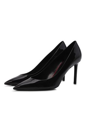 Женская кожаные туфли anja SAINT LAURENT черного цвета, арт. 489751/0NP00 | Фото 1