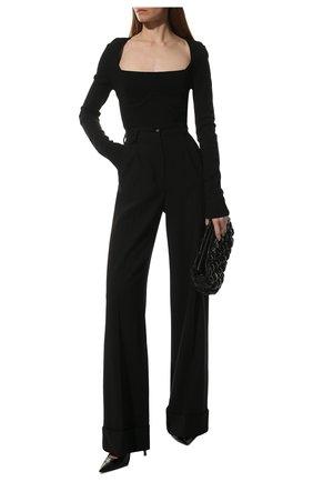 Женская кожаные туфли anja SAINT LAURENT черного цвета, арт. 489751/0NP00 | Фото 2