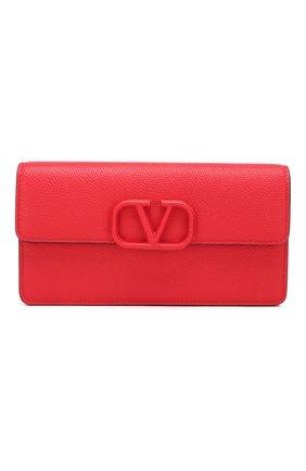 Кожаный кошелек Valentino Garavani на цепочке   Фото №1