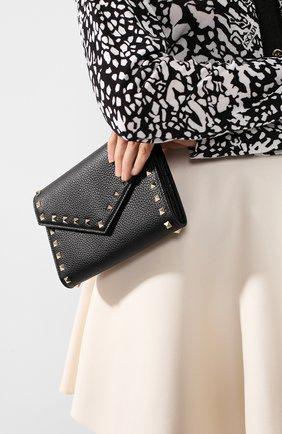 Женские кожаный кошелек valentino garavani на цепочке VALENTINO черного цвета, арт. TW2P0Q48/VSH | Фото 2