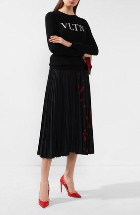 Женская кожаные туфли valentino garavani rockstud VALENTINO красного цвета, арт. TW2S0057/VCE | Фото 2