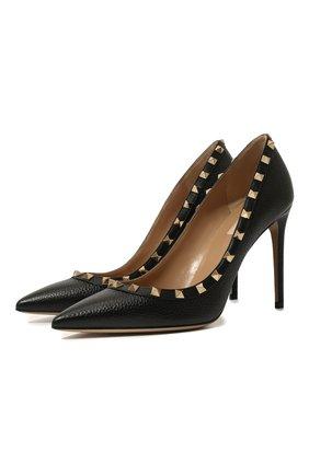 Женская кожаные туфли valentino garavani rockstud VALENTINO черного цвета, арт. TW2S0057/VCE | Фото 1