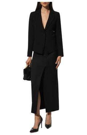 Женская кожаные туфли valentino garavani rockstud VALENTINO черного цвета, арт. TW2S0057/VCE | Фото 2