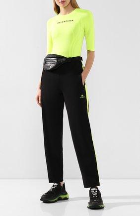 Женские комбинированные кроссовки triple s BALENCIAGA черного цвета, арт. 544351/W090N | Фото 2