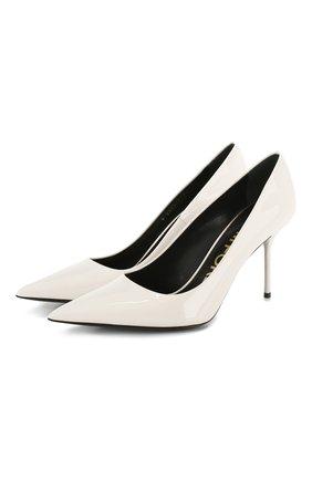 Женские кожаные туфли TOM FORD белого цвета, арт. W2523T-LCL072 | Фото 1