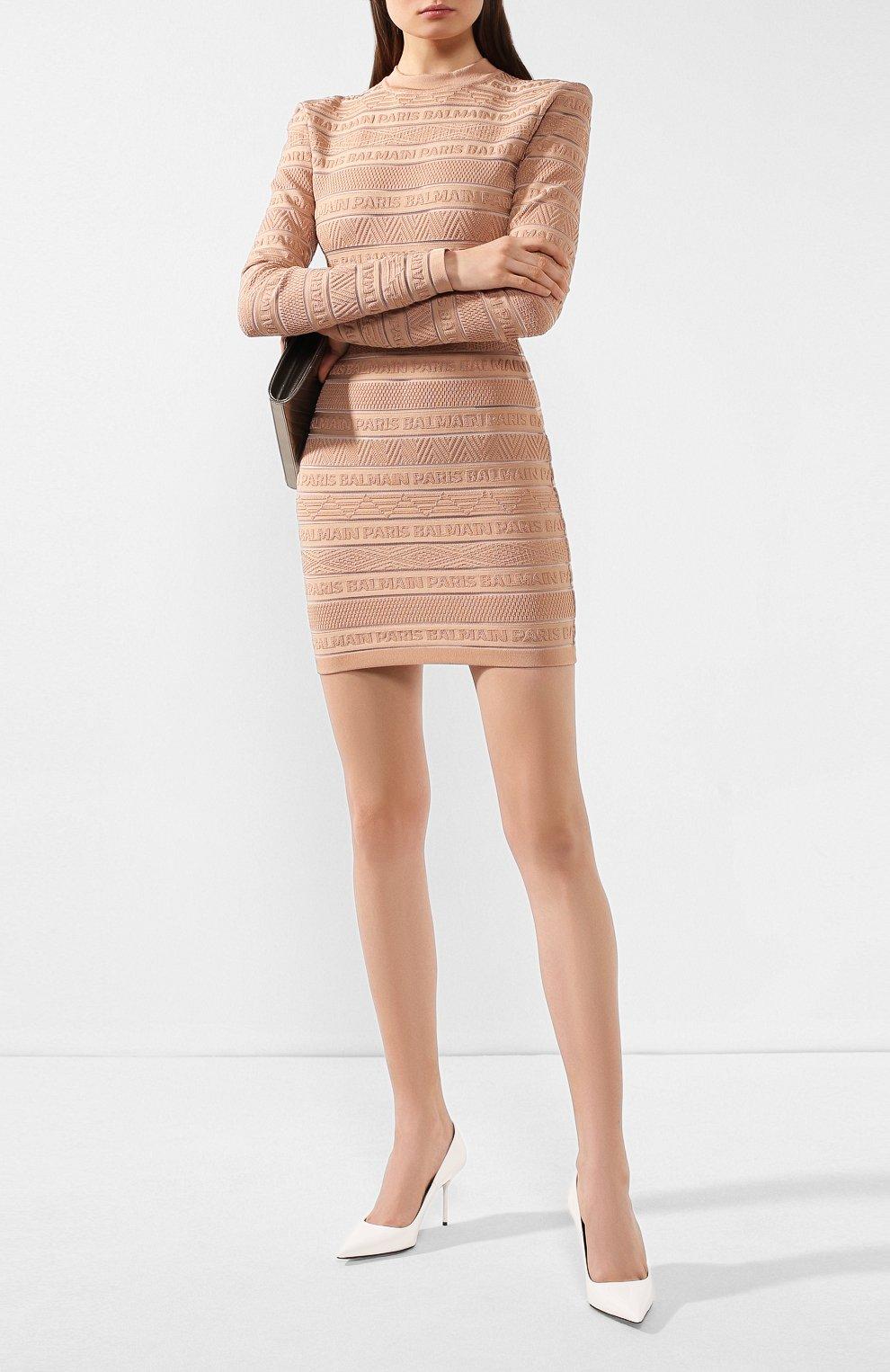 Женские кожаные туфли TOM FORD белого цвета, арт. W2523T-LCL072 | Фото 2