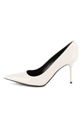 Женские кожаные туфли TOM FORD белого цвета, арт. W2523T-LCL072 | Фото 3