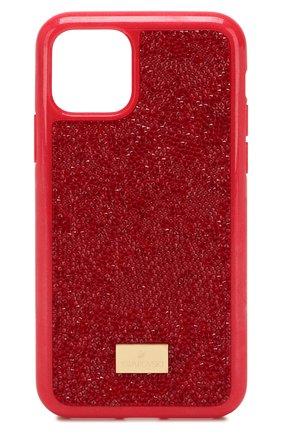 Мужской чехол для iphone 11 pro SWAROVSKI красного цвета, арт. 5515625 | Фото 1