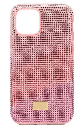 Мужской чехол для iphone 11 pro SWAROVSKI розового цвета, арт. 5531151 | Фото 1