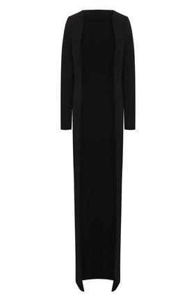 Женский кардиган из вискозы TOM FORD черного цвета, арт. CA3138-FAX459 | Фото 1 (Рукава: Длинные; Женское Кросс-КТ: кардиган-трикотаж; Длина (для топов): Удлиненные; Материал внешний: Вискоза)