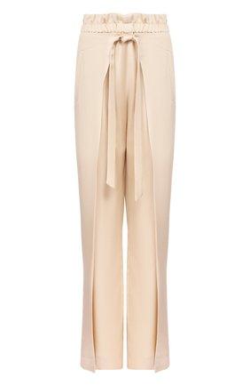 Женские брюки CULT GAIA белого цвета, арт. 52002V04 SAL   Фото 1 (Материал внешний: Растительное волокно; Женское Кросс-КТ: Брюки-одежда; Длина (брюки, джинсы): Стандартные; Статус проверки: Проверена категория)