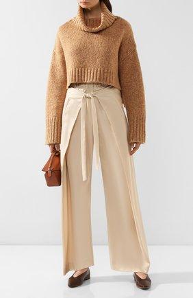Женские брюки CULT GAIA белого цвета, арт. 52002V04 SAL   Фото 2 (Материал внешний: Растительное волокно; Женское Кросс-КТ: Брюки-одежда; Длина (брюки, джинсы): Стандартные; Статус проверки: Проверена категория)