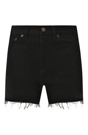 Женские джинсовые шорты SAINT LAURENT черного цвета, арт. 611755/YF899 | Фото 1