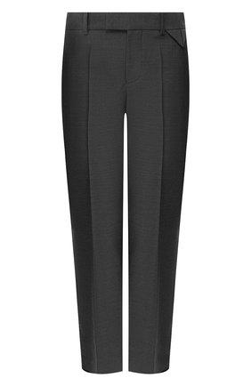 Женские шерстяные брюки BOTTEGA VENETA серого цвета, арт. 585165/VKIU0 | Фото 1