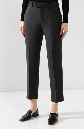 Женские шерстяные брюки BOTTEGA VENETA серого цвета, арт. 585165/VKIU0 | Фото 3