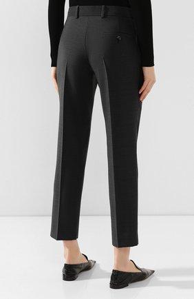 Женские шерстяные брюки BOTTEGA VENETA серого цвета, арт. 585165/VKIU0 | Фото 4