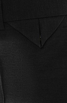 Женские шерстяные брюки BOTTEGA VENETA серого цвета, арт. 585165/VKIU0 | Фото 5
