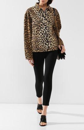 Женская джинсовая куртка BALENCIAGA леопардового цвета, арт. 606158/TGL33 | Фото 2