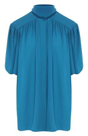 Женская блузка BALENCIAGA бирюзового цвета, арт. 602571/TG008 | Фото 1