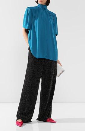 Женская блузка BALENCIAGA бирюзового цвета, арт. 602571/TG008 | Фото 2