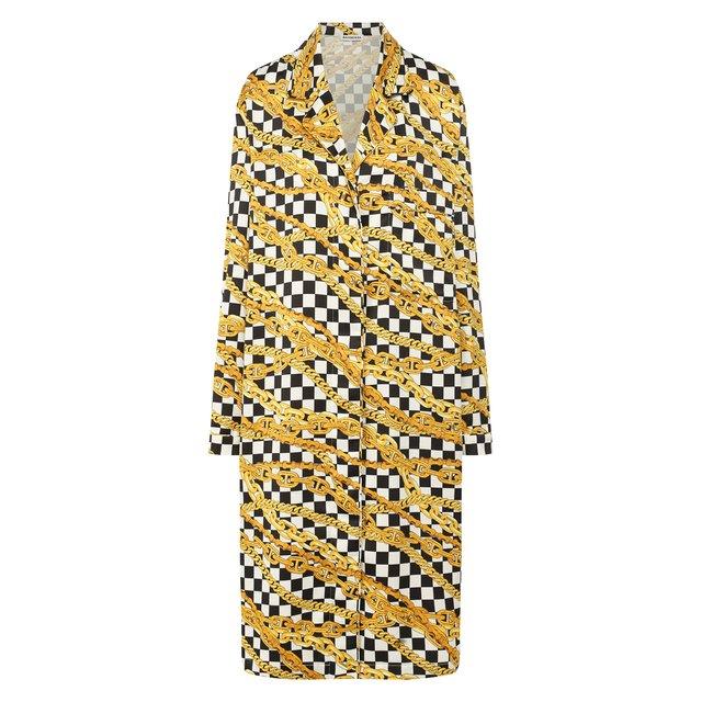 Платье с принтом Balenciaga