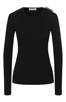 Женская пуловер из вискозы BALENCIAGA черного цвета, арт. 570828/T5101 | Фото 1