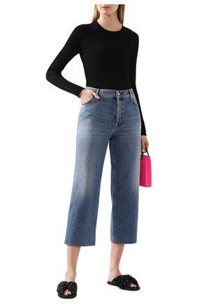 Женская пуловер из вискозы BALENCIAGA черного цвета, арт. 570828/T5101 | Фото 2