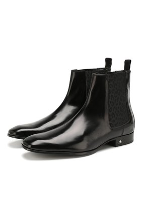 Мужские кожаные челси sawyer JIMMY CHOO черного цвета, арт. SAWYER/XCL | Фото 1