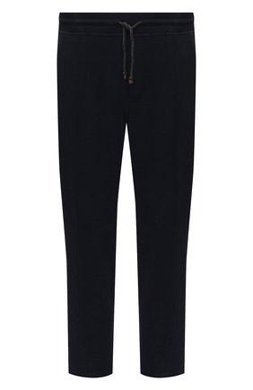 Мужской хлопковые брюки BRUNELLO CUCINELLI темно-синего цвета, арт. M0T313212G | Фото 1