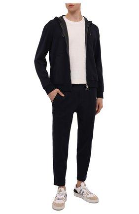 Мужская хлопковая толстовка BRUNELLO CUCINELLI темно-синего цвета, арт. M0T319069G | Фото 2