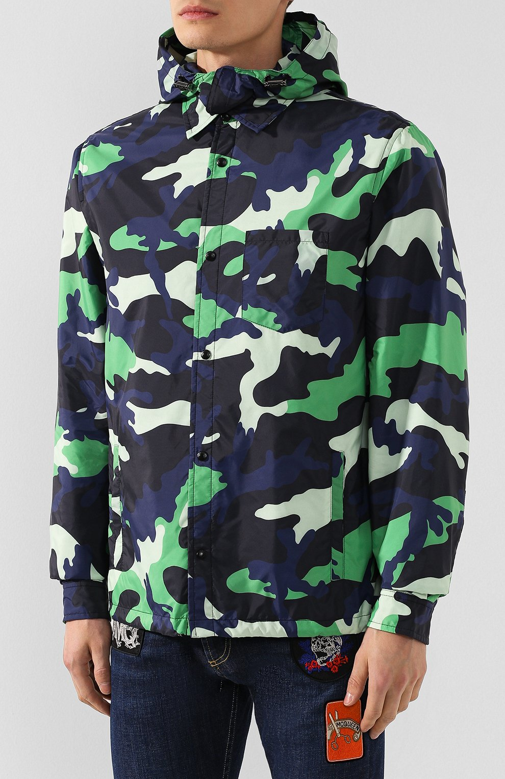 Мужская куртка VALENTINO зеленого цвета, арт. TV3CIF50JEJ | Фото 3