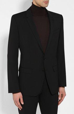 Мужской шерстяной костюм DOLCE & GABBANA черного цвета, арт. GK0EMT/GEI59 | Фото 2