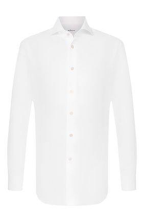 Мужская хлопковая сорочка KITON белого цвета, арт. UCIH000340100Q | Фото 1