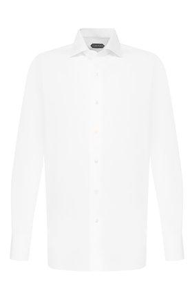 Мужская хлопковая сорочка TOM FORD белого цвета, арт. 7FT00094S3AX | Фото 1